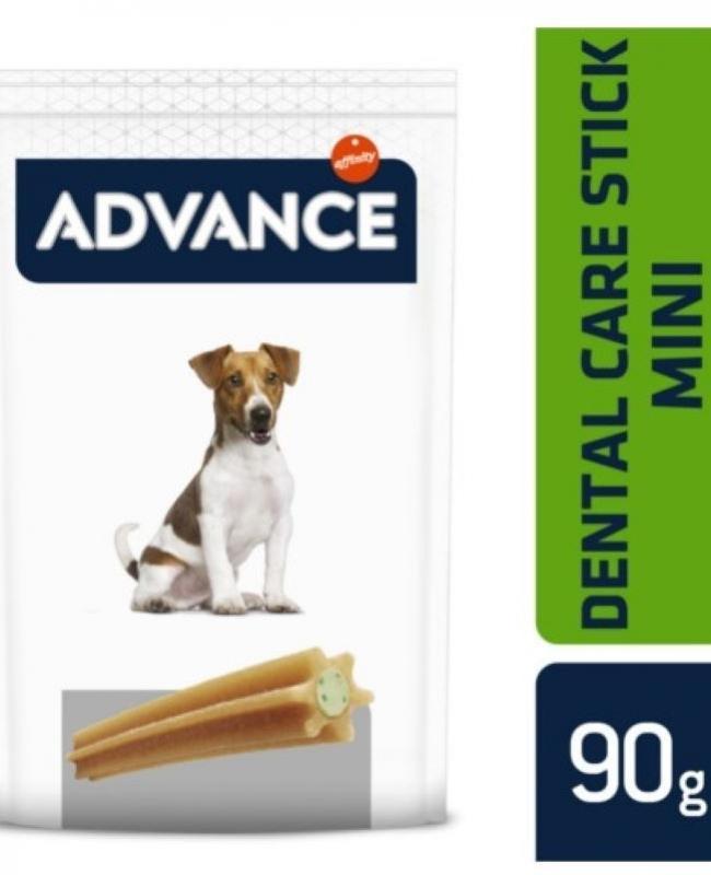 Advance dental care mini snack perro 90gr