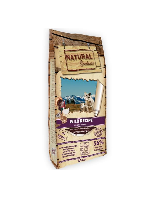 Natural greatness wild récipe 12kg