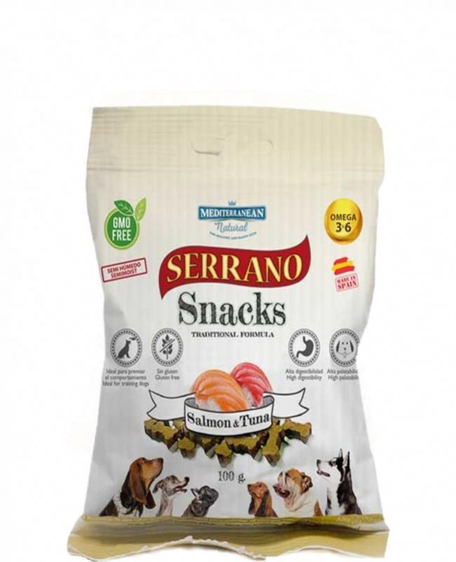 Snack Serrano Salmón-Atún 100gr